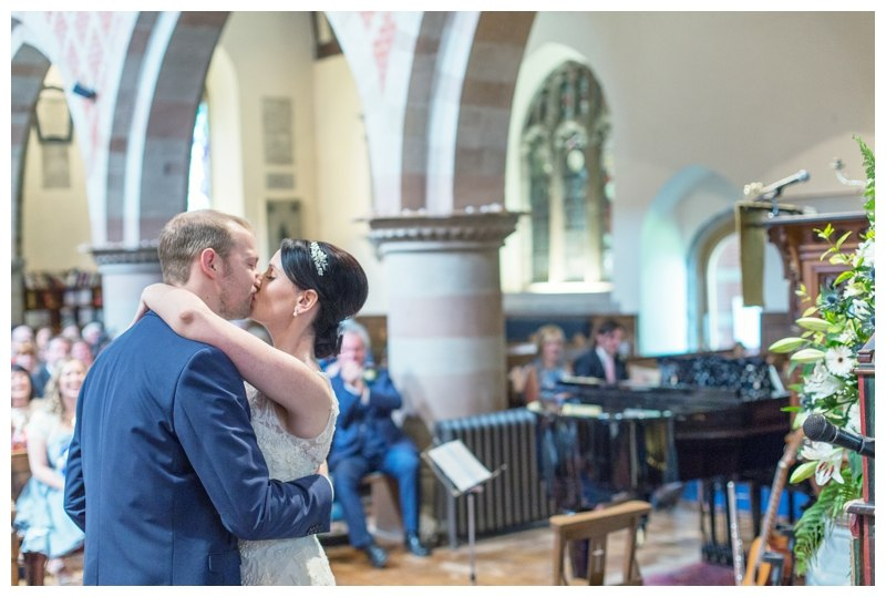 Solihull wedding photography first kiss