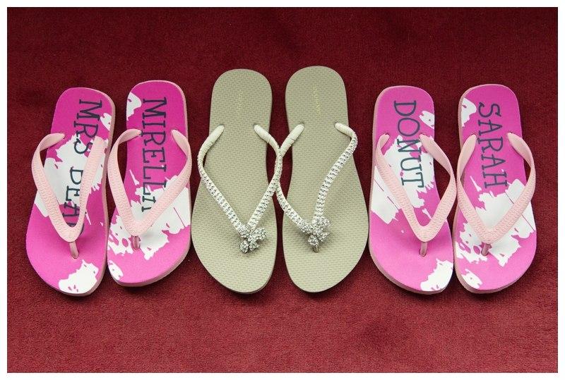 Bridal flip flops