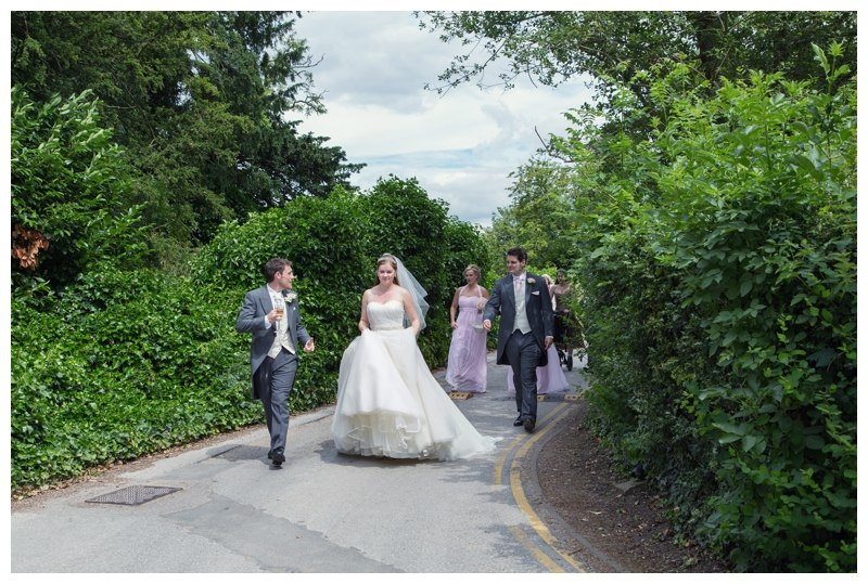 Bridal party walk