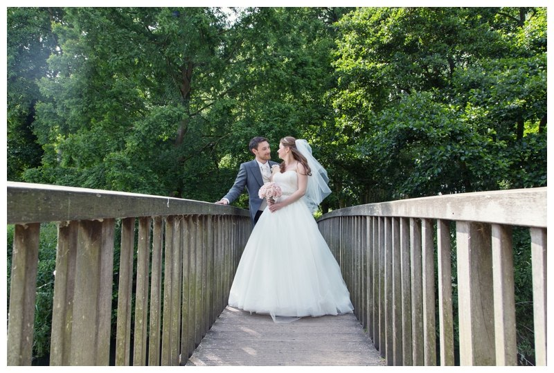 Bride and Groom on Bridge