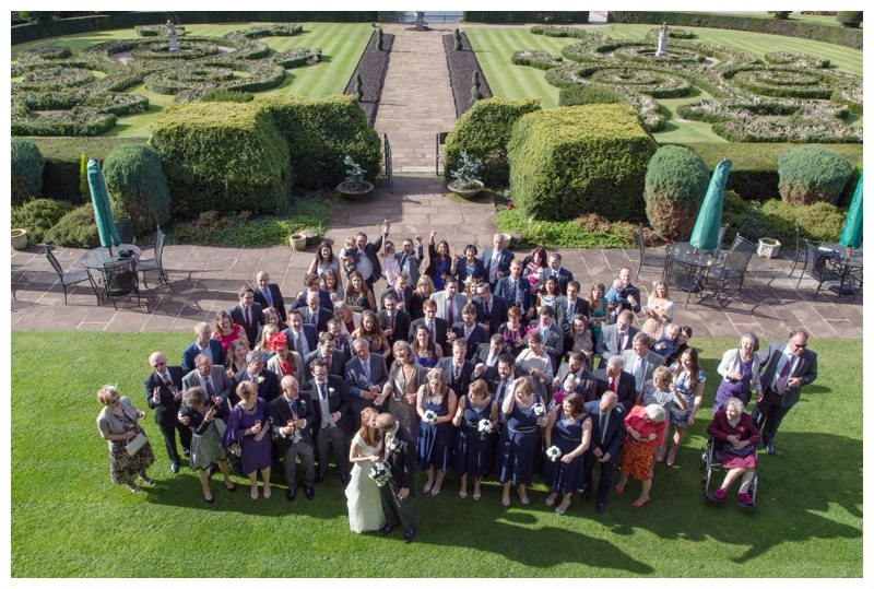 large group photo at coombe abbey