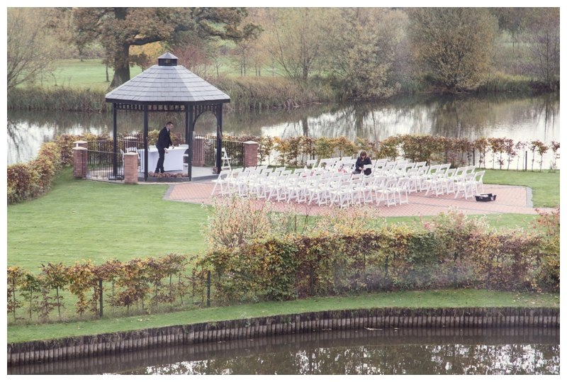 Setting up wedding at Ardencote manor
