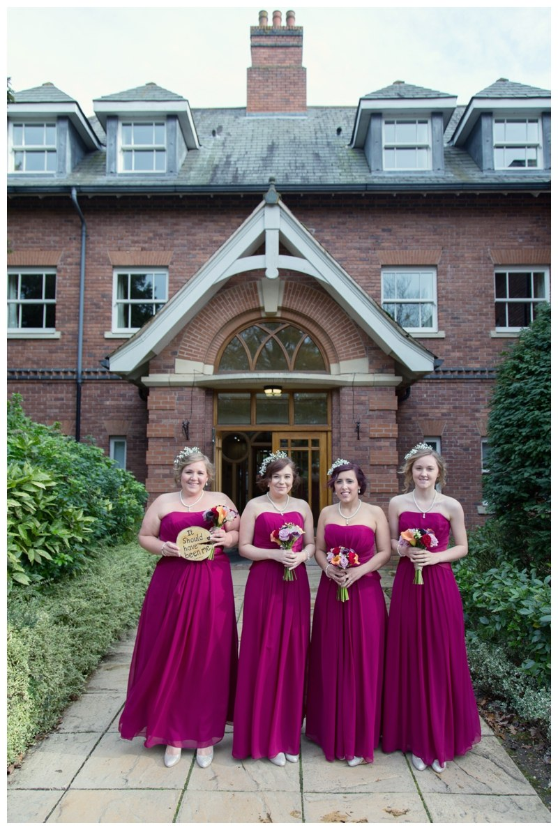 Bridesmaids at Ardencote Manor
