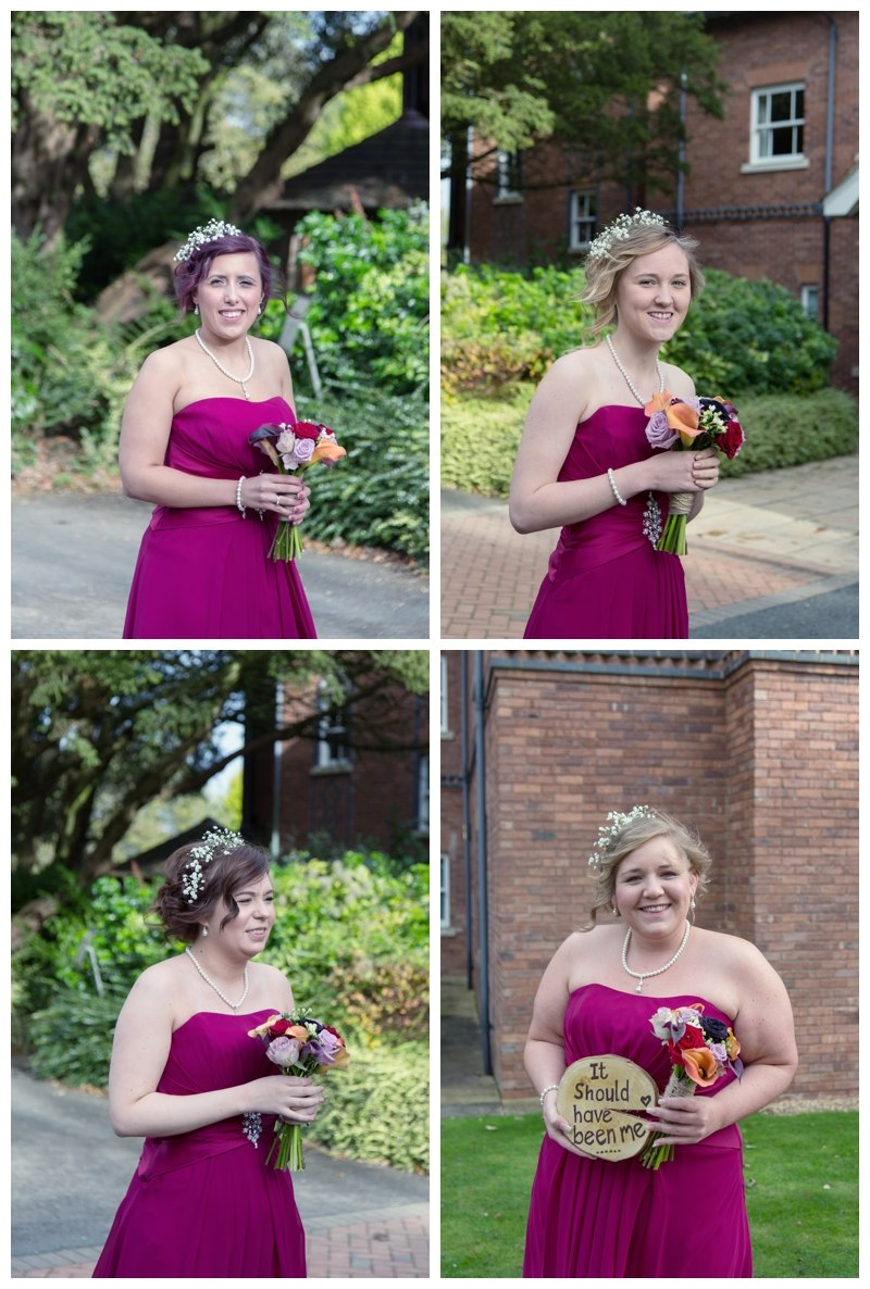 Bridesmaids at Ardencote Manor wedding