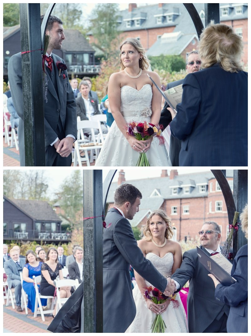 Ardencote Manor Wedding outdoor ceremony