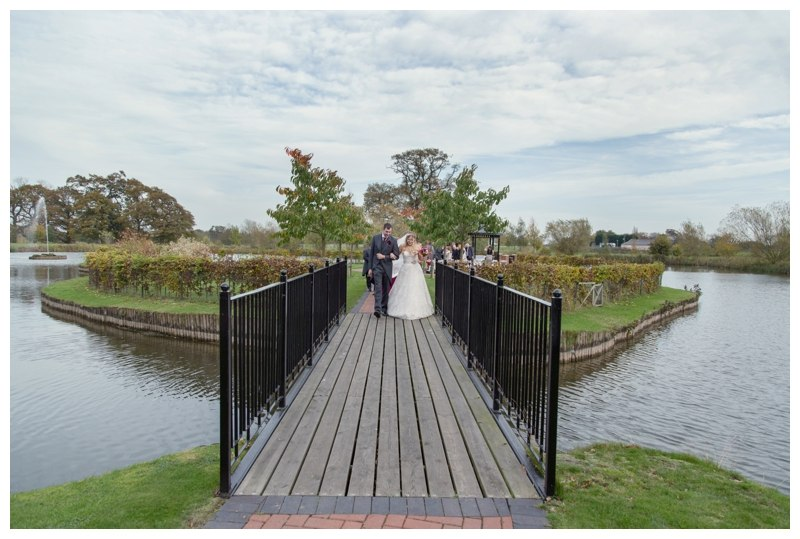 Ardencote Manor Wedding bridge