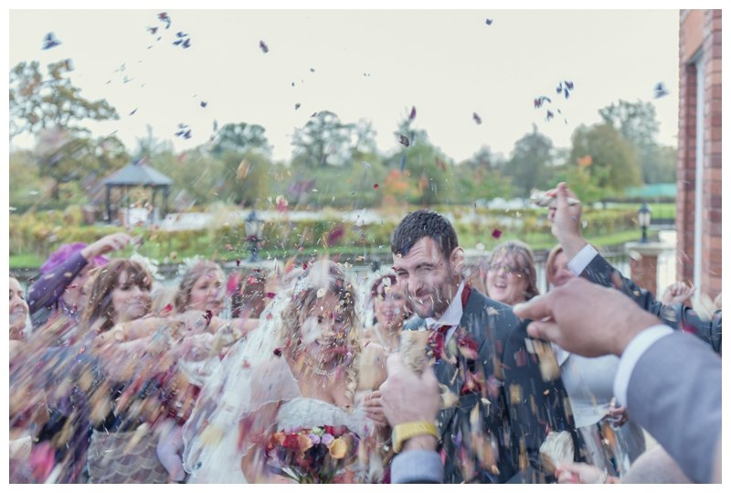 Confetti shot at Ardencote Manor
