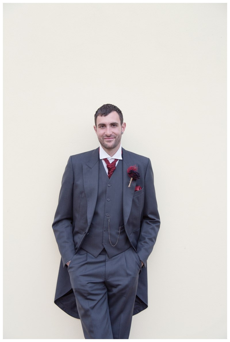 Groom portrait at Ardencote Manor