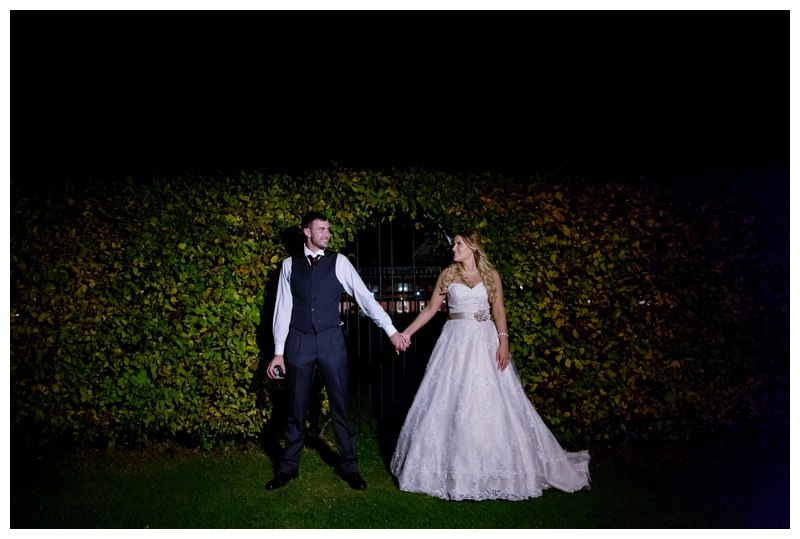 Night couple portraits at Ardencote Manor