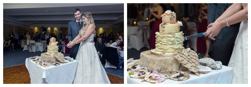 cutting the cake at Ardencote Manor