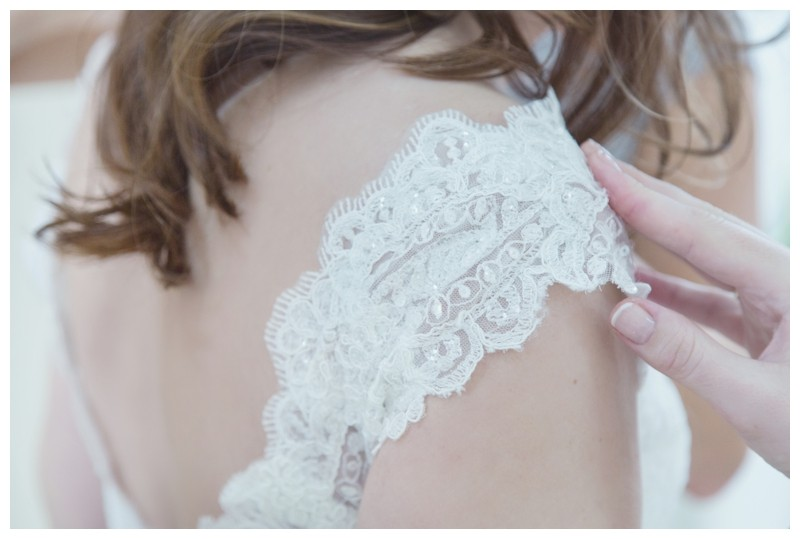bridal dress detail