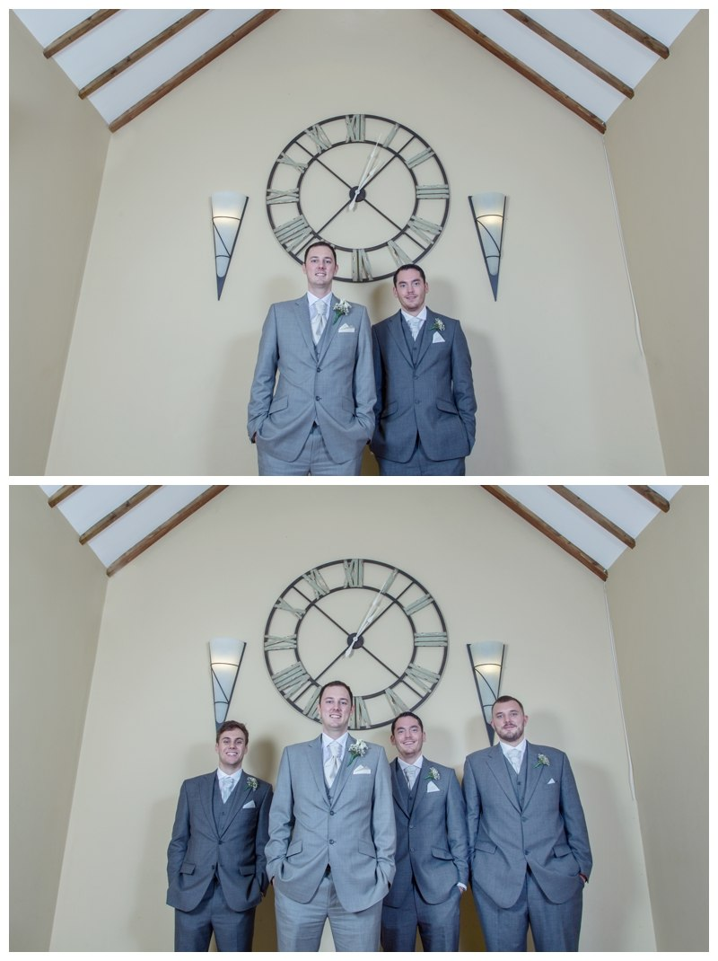groomsmen at nuthurst grange