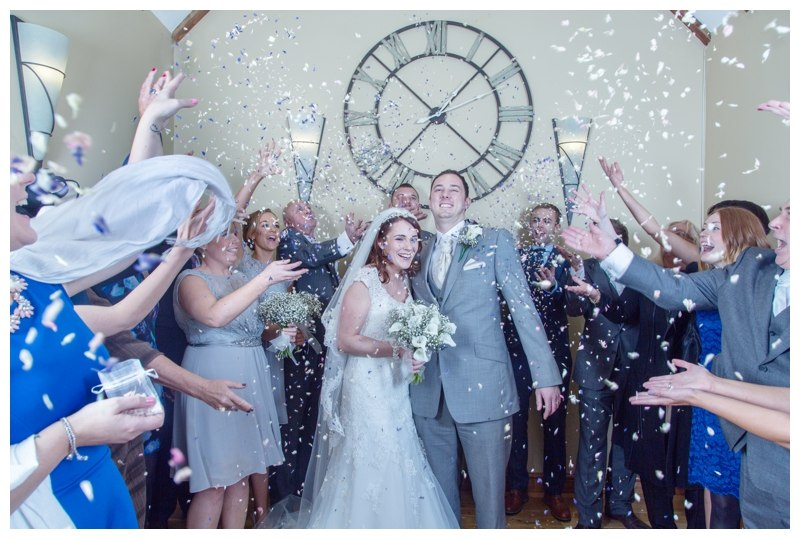Nuthurst Grange Wedding confetti