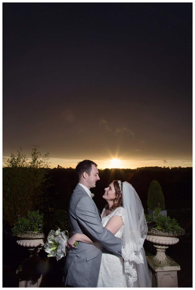 Nuthurst Grange Wedding sunset