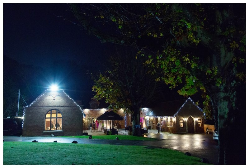nuthurst grange at night