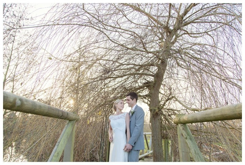 Wootton Park wedding bridge