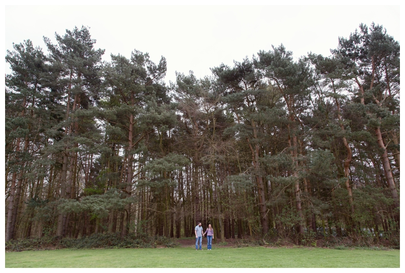 Couple by the huge trees in Sutton Park