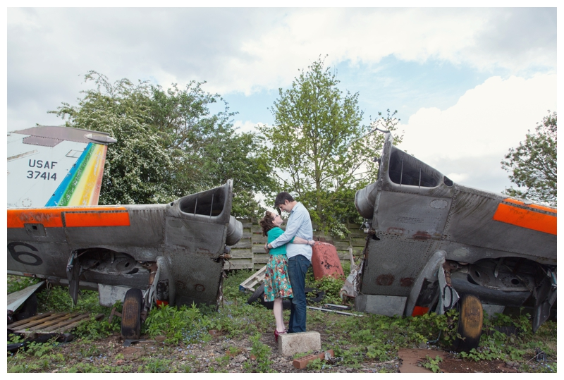 Couple in the wreckage