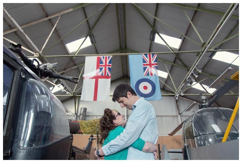 Couple in the hangar