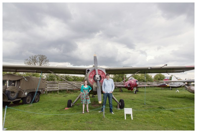 Couple with bi plane