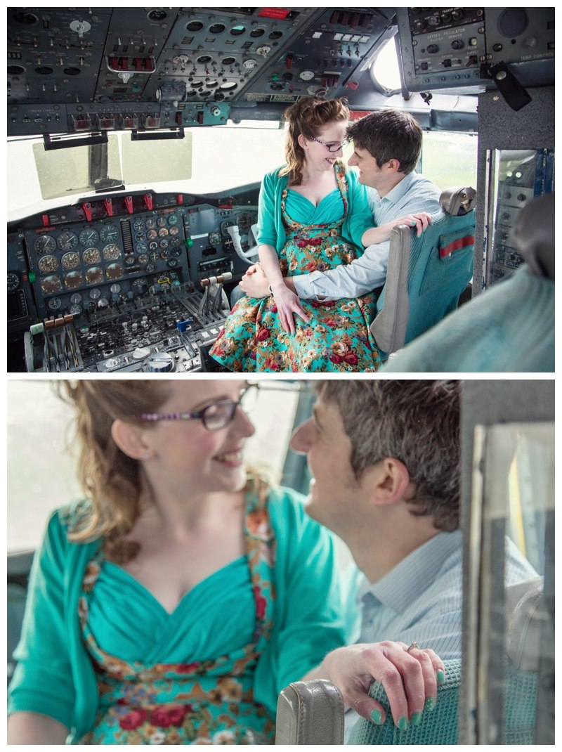 Couple in the cockpit