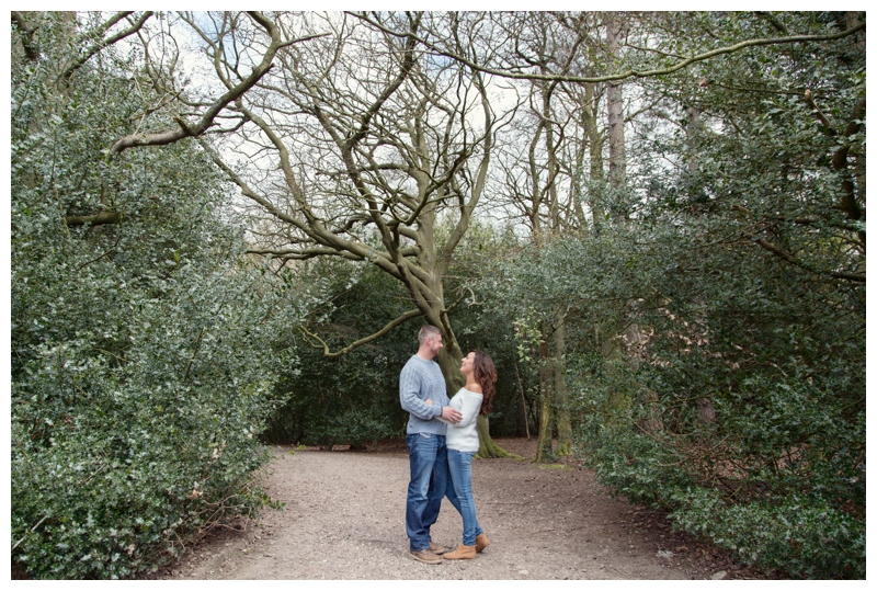 Couple shot in the trees Sutton Park