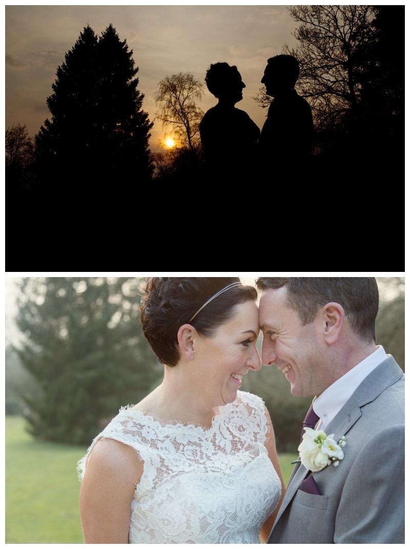 Hampton manor bride and groom