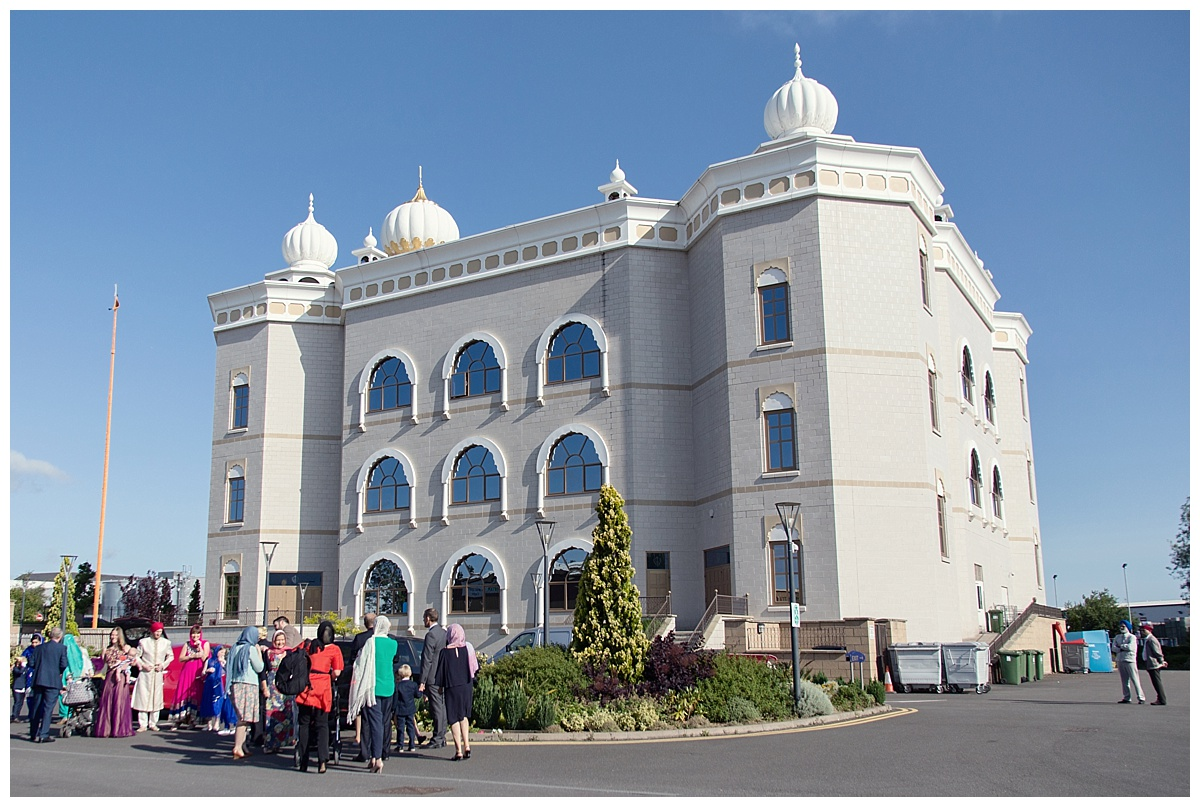 sikh temple and guests