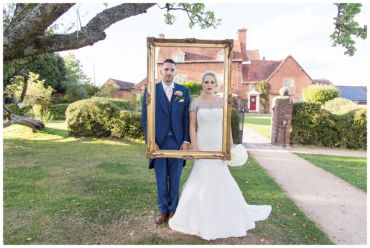 Bride and Groom in a frame!