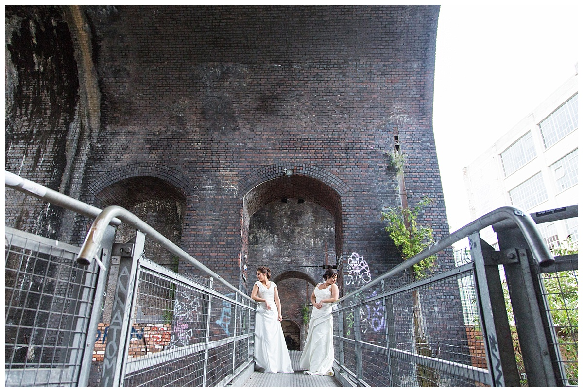 Digbeth bridge bride and bride