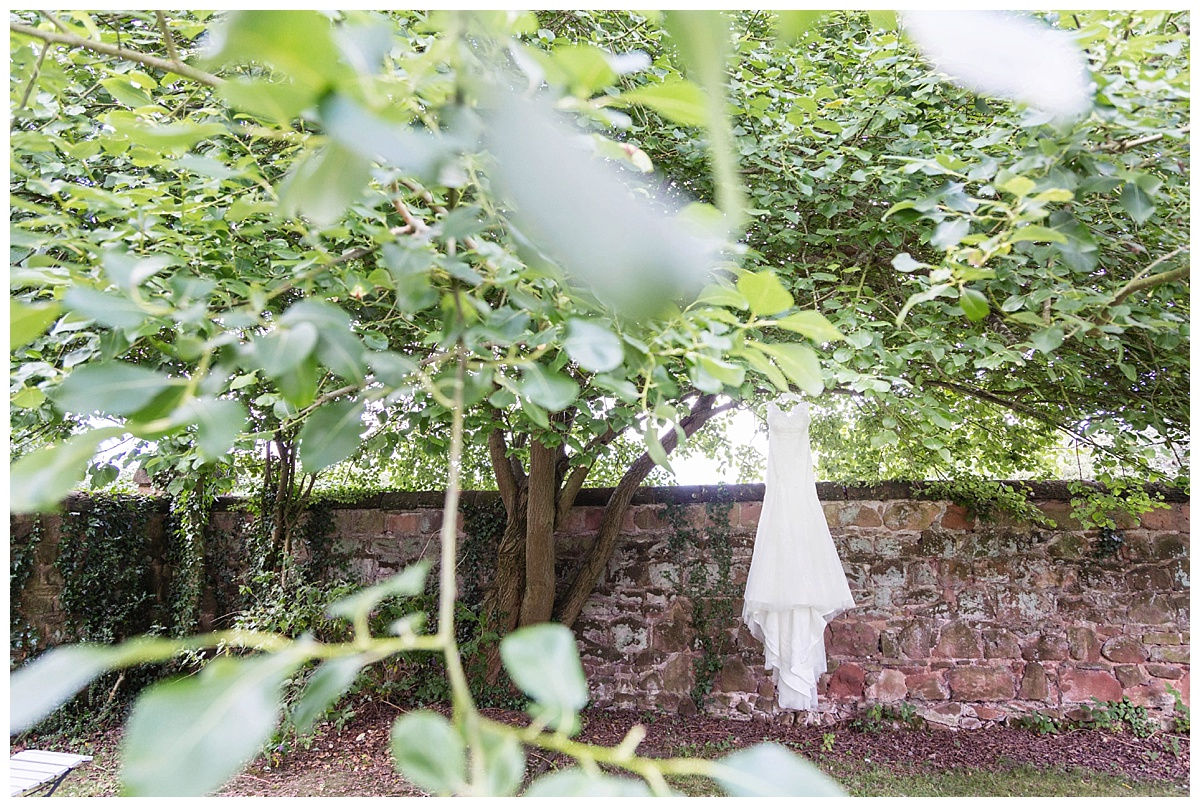 Bridal gown in a tree Pendrell Hall
