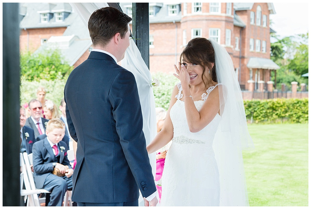 ardencote manor outdoor ceremony