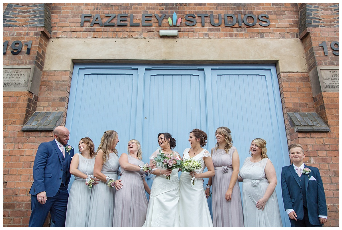 Fazeley studios bridal party