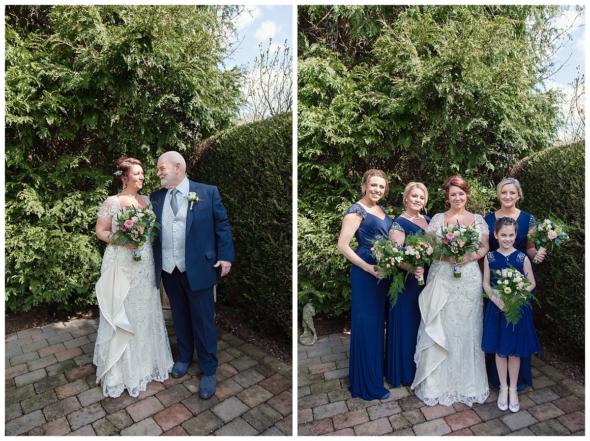 birde and her bridal party