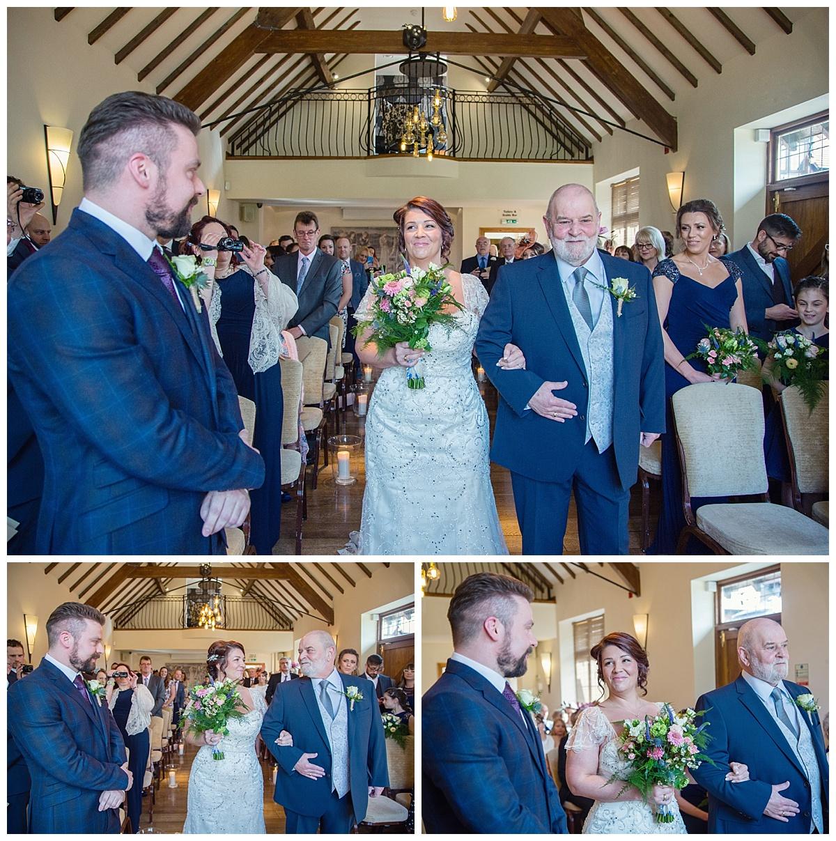bride wlking down the aisle