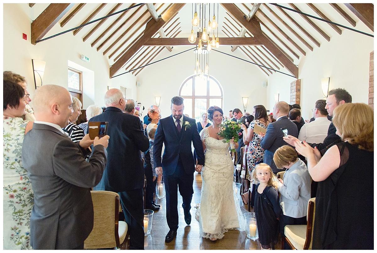 Mr & Mrs at Nuthurst Grange in Solihull