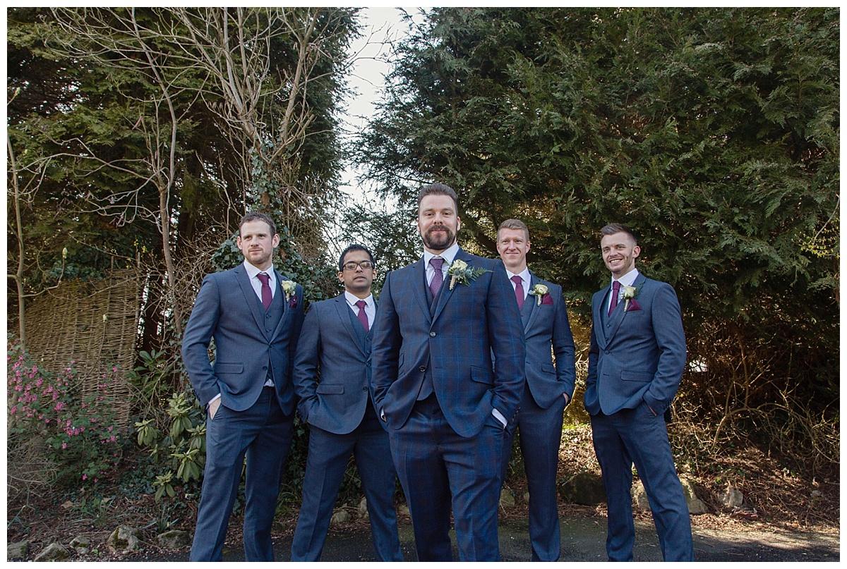 groom and ushers