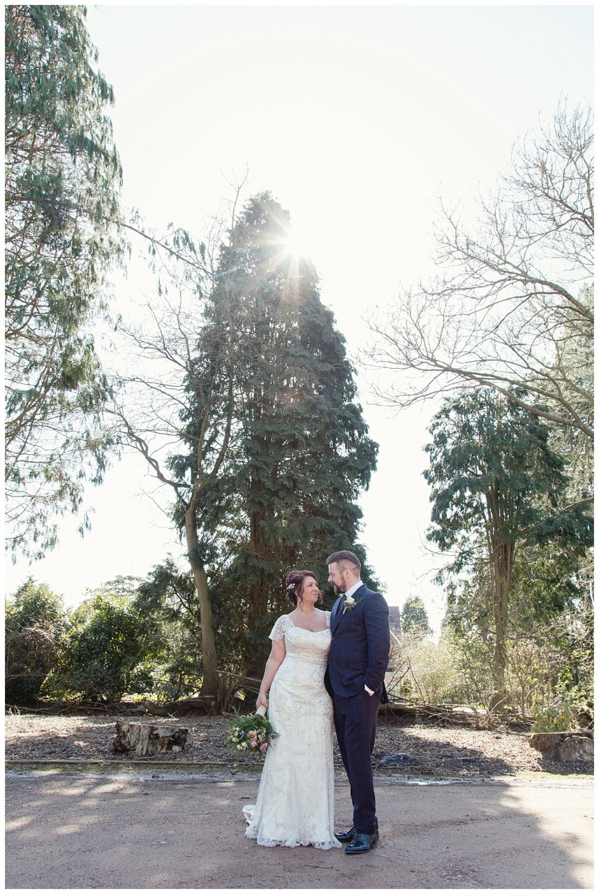 bride and groom at Nuthurst Grange in Solihull