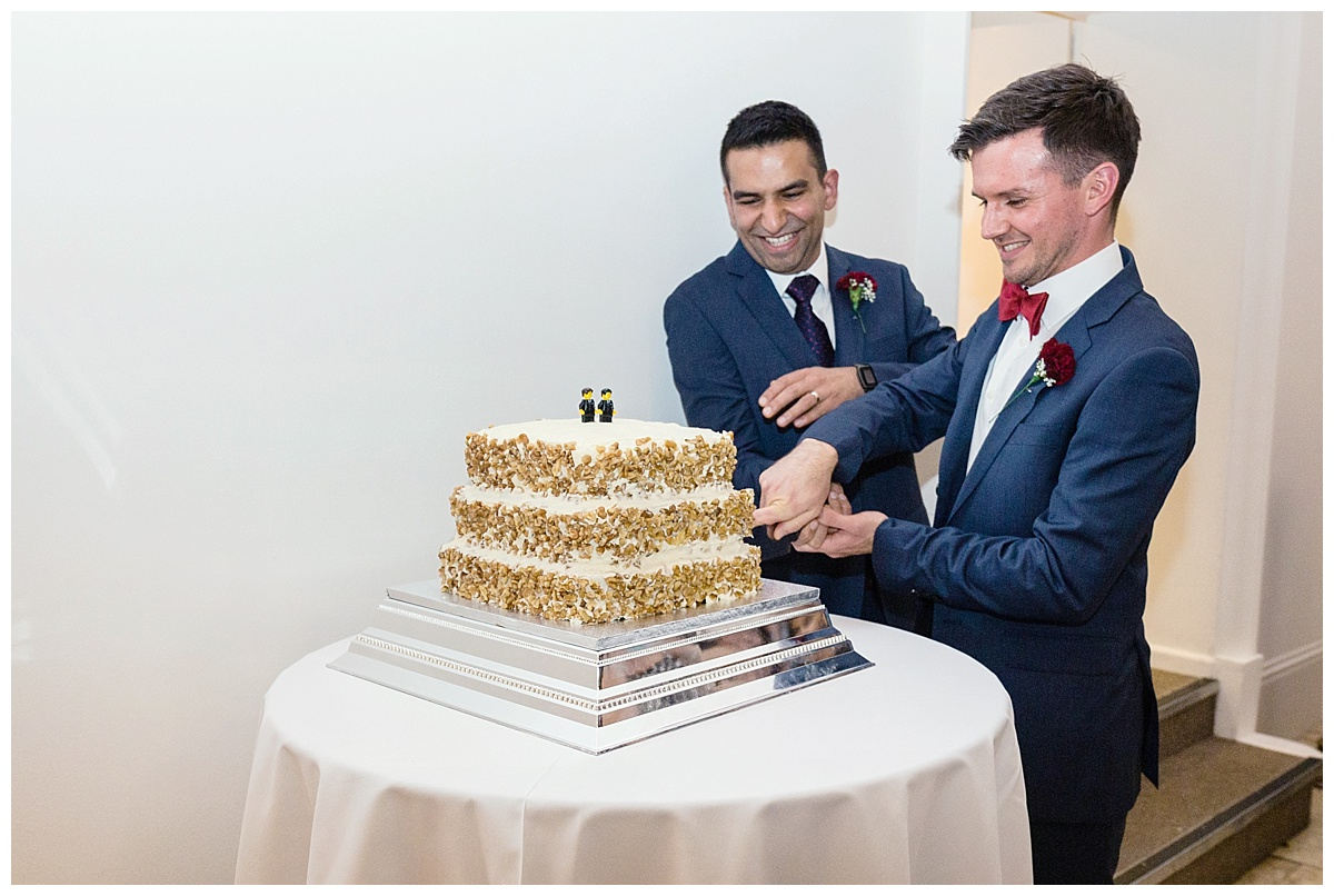 cutting the cake at fazeley studios
