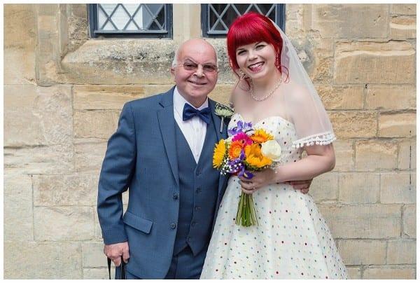 bride with her dad at ellenborough park