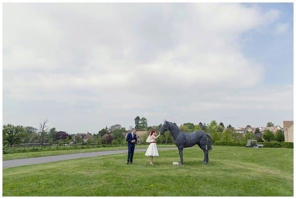 Bride and groom Ellenborough park