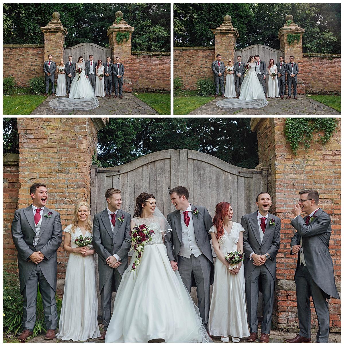 Bridal party Gorcott Hall