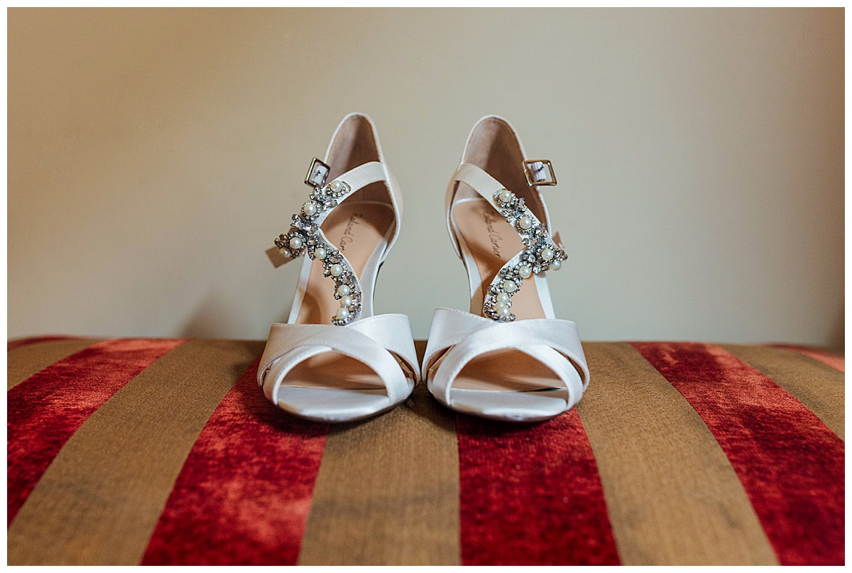 Bridal shoes Coombe Abbey