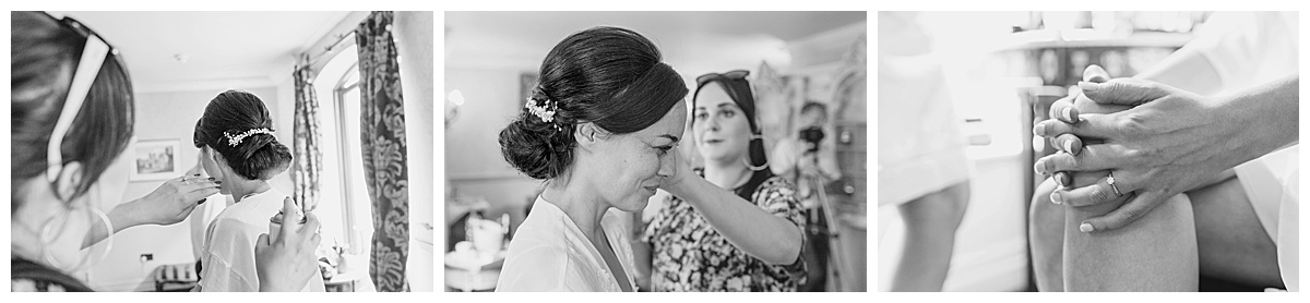 Bridal hair Coombe Abbey