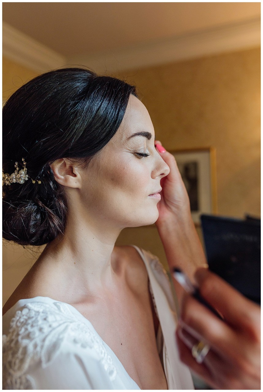 Bridal make up Coombe Abbey