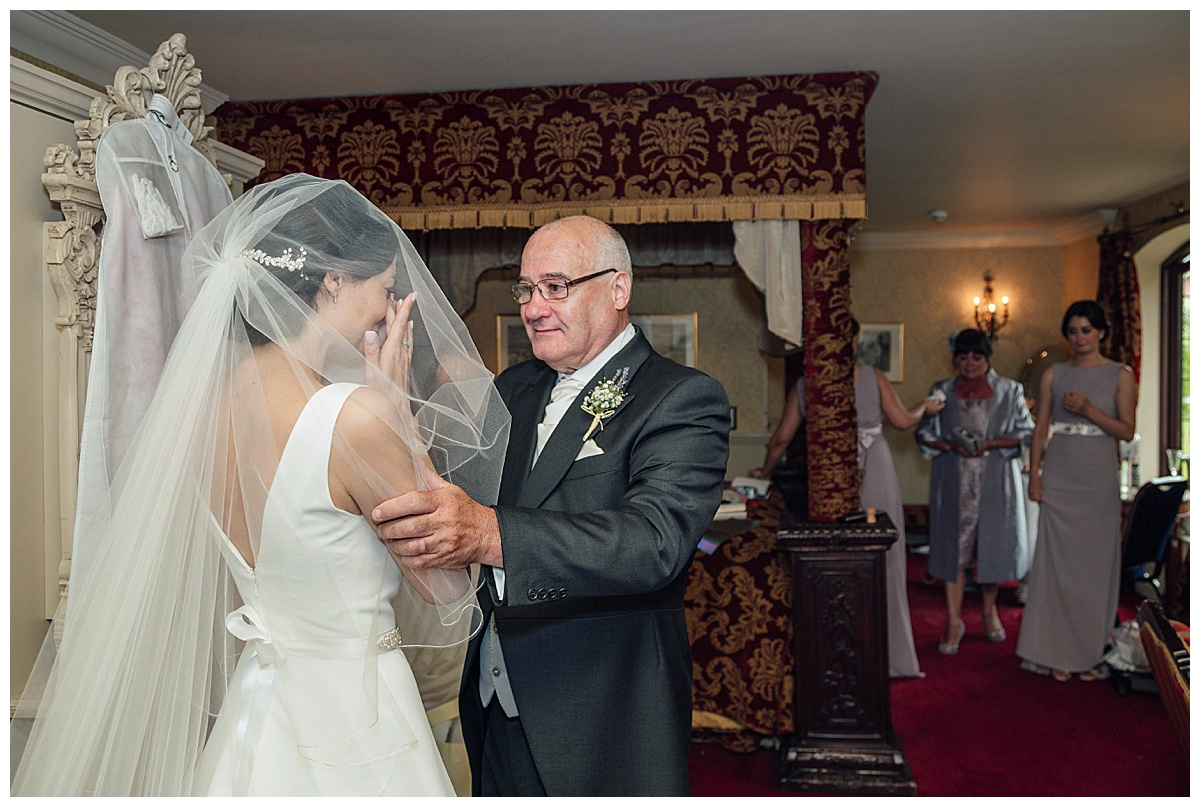 Dad sees bride Coombe Abbey