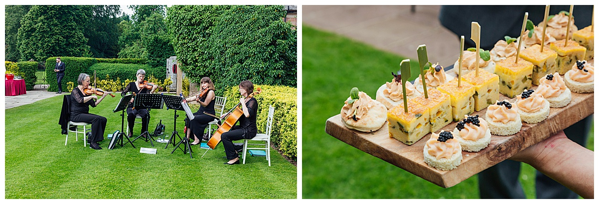 canapés Coombe Abbey