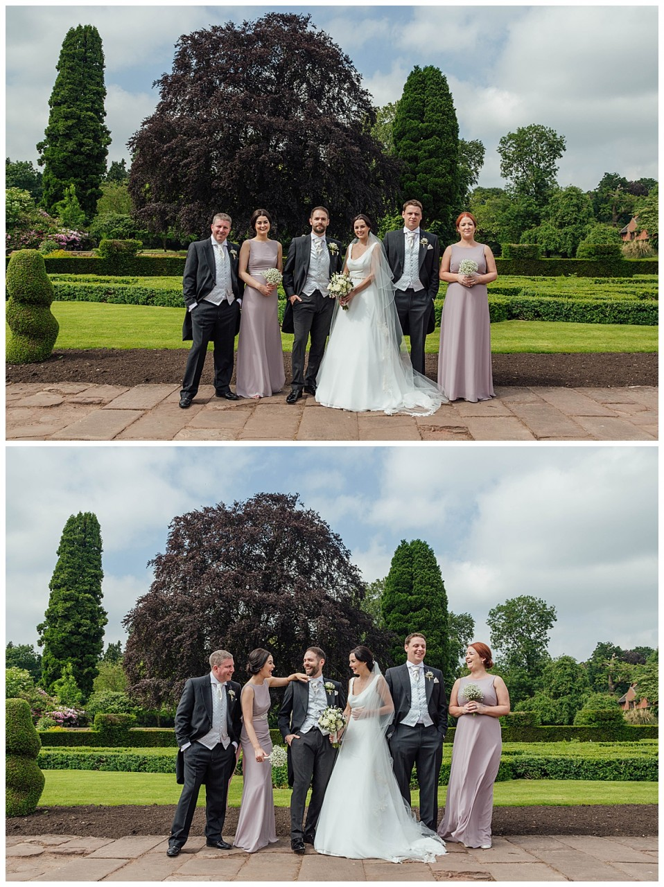 Bridal party Coombe Abbey