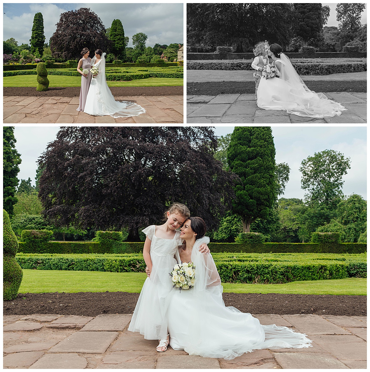 Bride and Bridesmaids Coombe Abbey