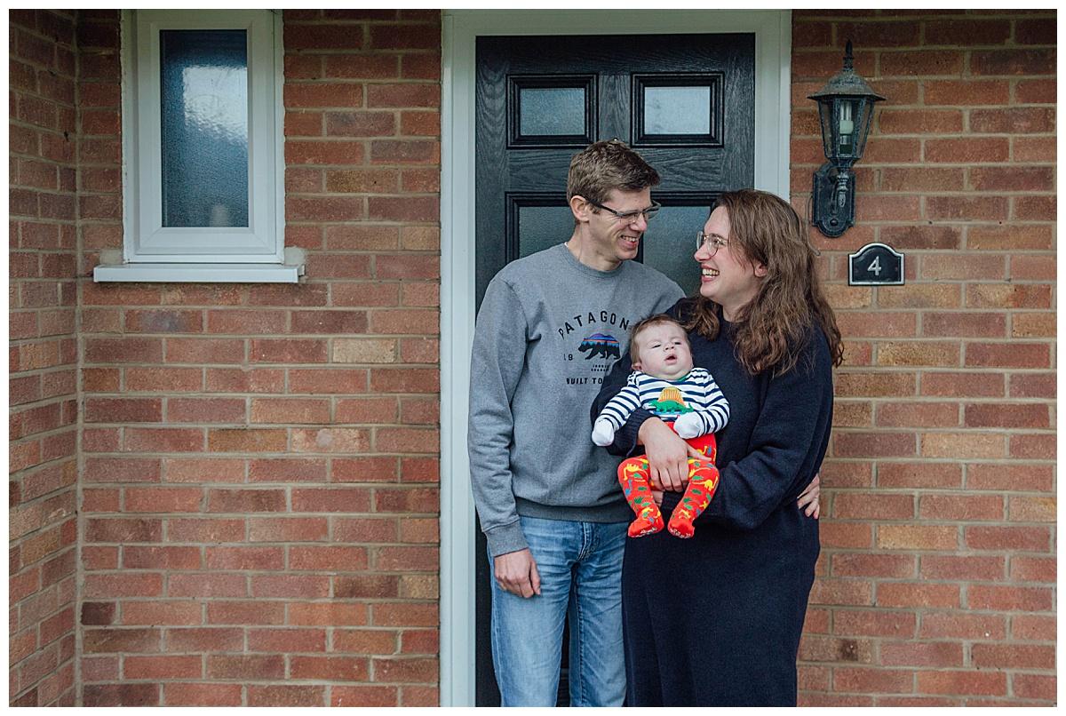 doorstep portrait new baby